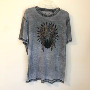 Lucky Brand • Venice burnout graphic tee t shirt
